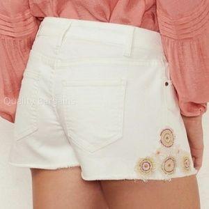 NWT Lauren Conrad LC White Crochet Applique Shorts